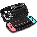 WINSEE Nintendo Switch Carrying Case,Durable & Portable Case / EVA Protective Storage Pouch with Game Storage Slots(Black)
