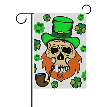 Amazon.com : Top Carpenter St Patrick Leprechaun Skull Double-Sided ...