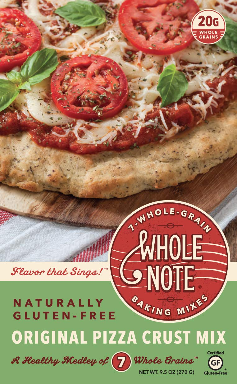 Whole Note Pizza Crust Mix, 7-Whole-Grain and Naturally Gluten-Free (Pack of 3) by Whole Note