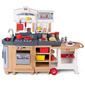 Amazon.com: Little Tikes Cook Around Kitchen and Cart ...