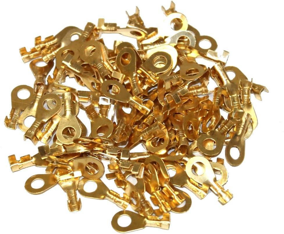 Lot de 100 cosses /électriques rondes oeil oeillet 5,3 mm C1225 Aerzetix