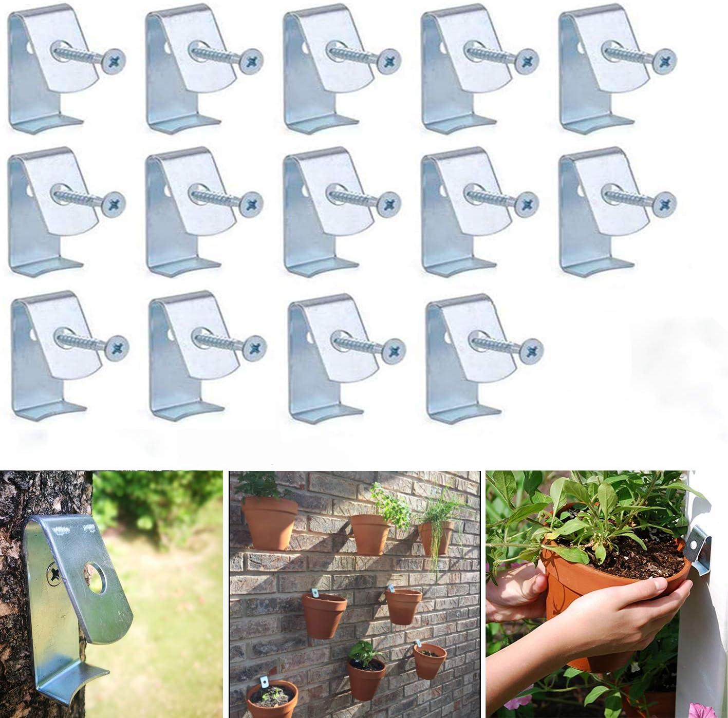 NIUXX Flower Pot Clips 14 Pack of Plant Pot Holder with Screw Suit c190fd