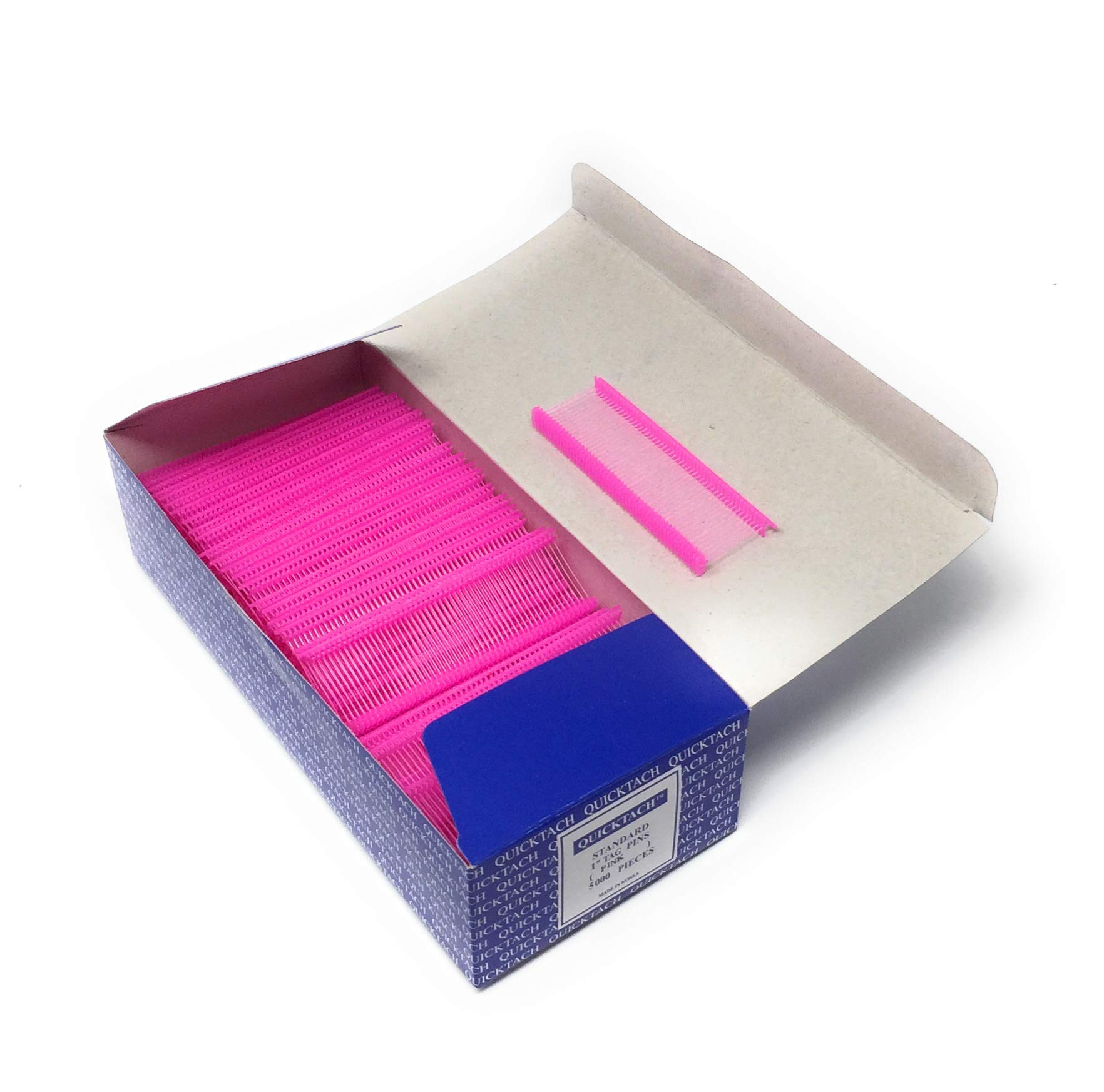 Pink Quicktach Tagging Gun Barbs Fasteners Standard 1 Inch Box of 5000 by ExecuSystems