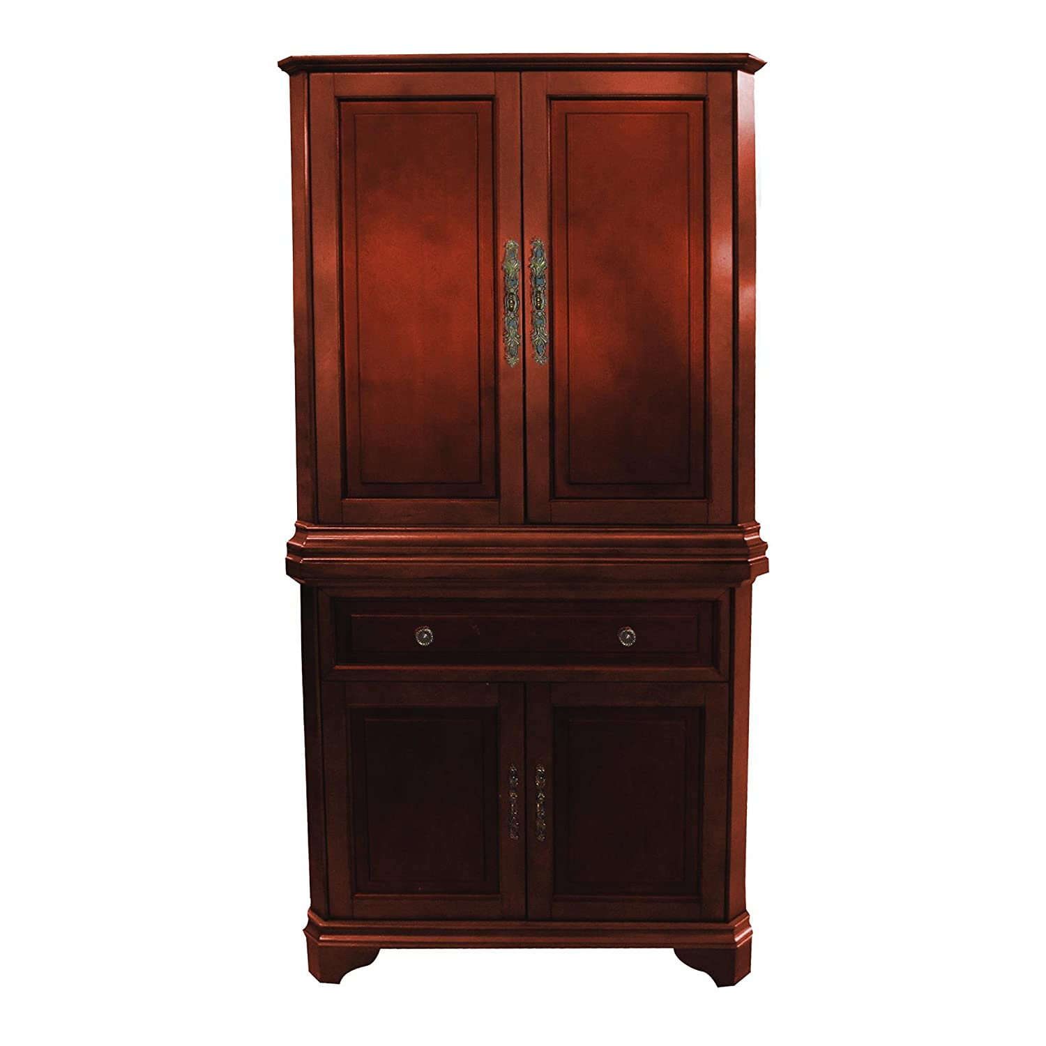 Yosemite TAMARACK36DA8 Double Armoire in Brown Finish - Brown Cabinet