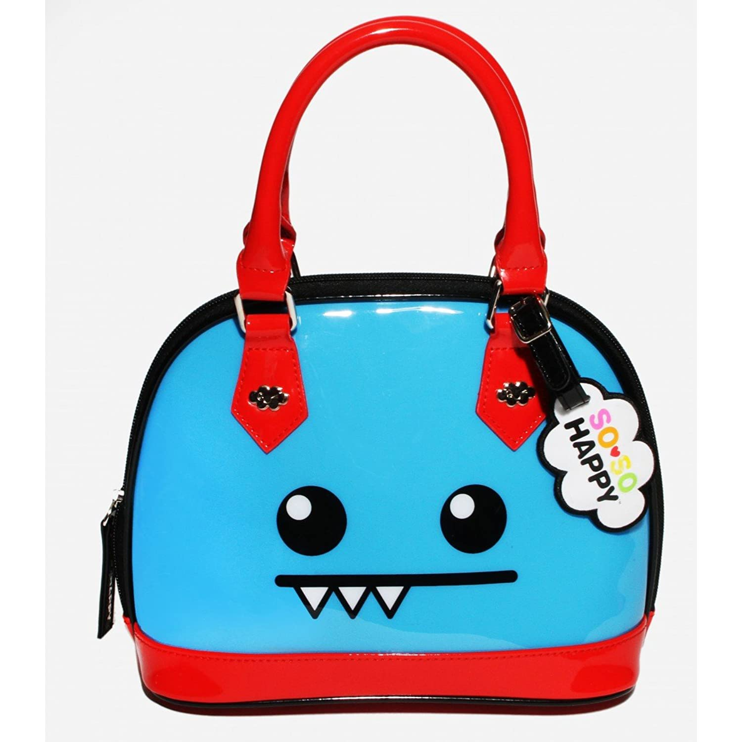 Loungefly X So So Happy Ozzie Mini Patent Dome Purse Blue/Red
