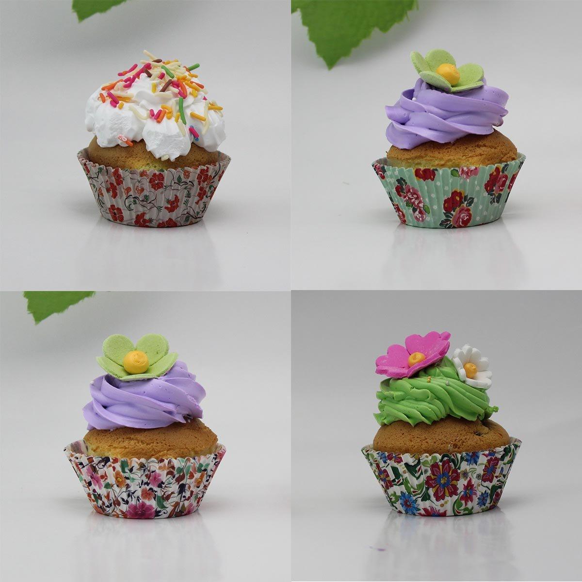 Amazon.com: SophieBella 8 kinds Flower Muffin Liner Cupcake-Liner ...