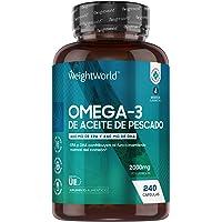 Omega 3 Cápsulas de Alta Dosis 2000mg, Aceite de Pescado Puro 240 Cápsulas - 660 mg de EPA + 440 mg DHA, Suministro de 4…