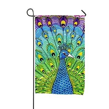XASFF The Peacock Garden Flag Polyester Yard for Indoor Outdoor Amazon.com :