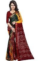 Shree Sondarya Bandhani Women's Cotton Saree With Blouse Piece (Ssb-S3077-01_Multi Colour)