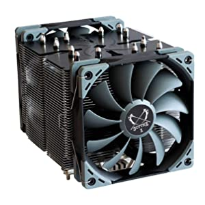 Scythe Ninja 5 120mm Air CPU Cooler, Intel LGA1151, AMD AM4, Dual Silent Fans, Black Top Cover