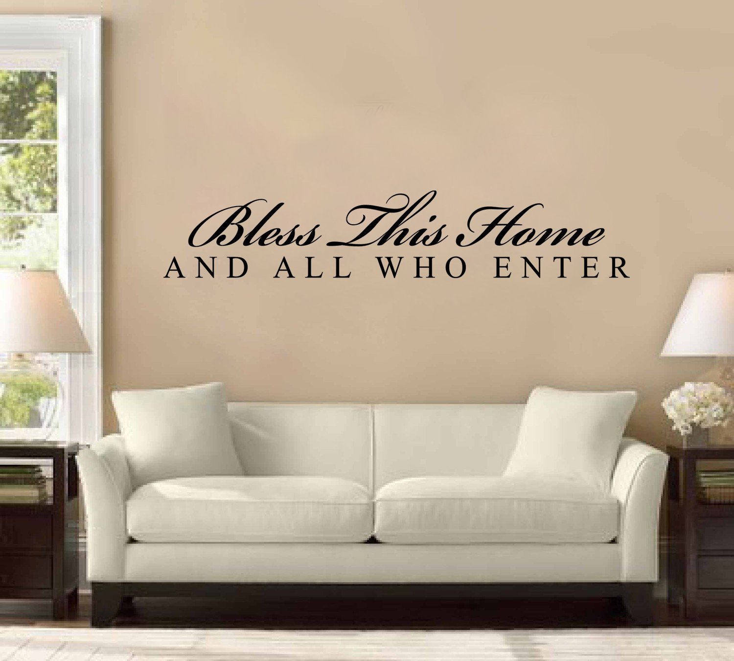 Bless This House And All Who Enter Large Wall Decal Sticker - Wall stickers art