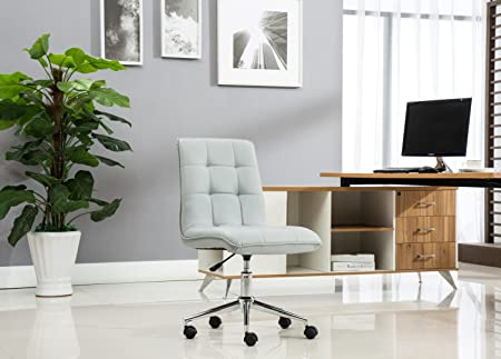 Porthos Home Leona Office Chair Unique Luxury Home Office Chairs, Height Adjustable, 360-degree Swivel, Easy Glide Caster Wheels, Ultra-Thick Padding Size 24 x 20 x 39 inch