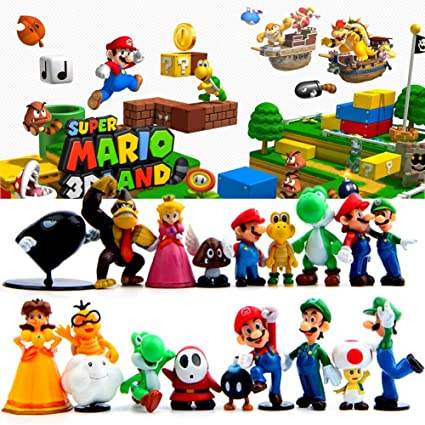 Amazon.com: TOYFORU 18 piezas Super Mario Brothers ...
