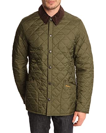 BARBOUR - Jackets - Men - Heritage Liddesdale Olive Quilted Jacket ... fe9776f58219