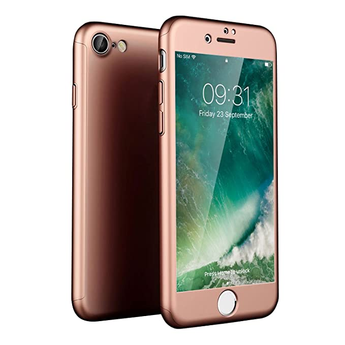8385dfc09c Olixar iPhone 8 Case with Screen Protector - Full Cover Case – 360 Degree  Coverage - Tempered Glass Screen Protector X-Trio - Front and Back  Protection ...