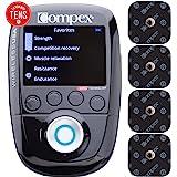 Compex Wireless USA 2.0 Muscle Stimulator w/TENS Bundle Kit: Electric Muscle Stimulation Machine (EMS), 16 Snap…