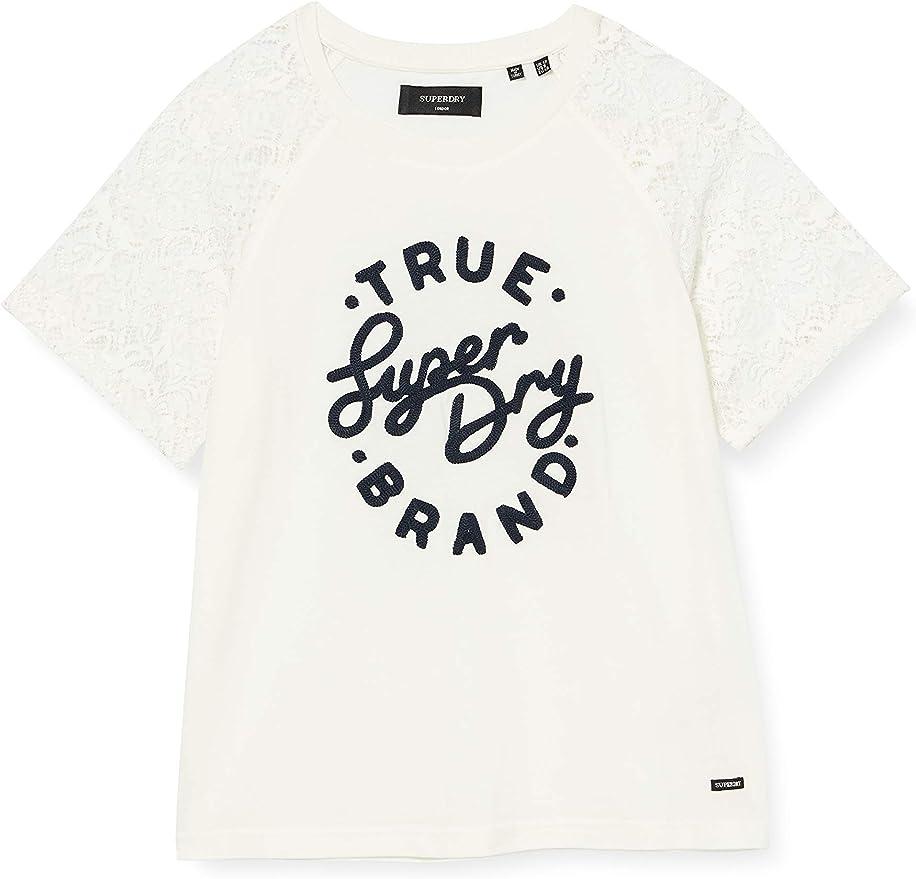 Superdry Summer Lace Raglan tee Camiseta para Mujer: Amazon.es: Ropa y accesorios
