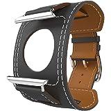 MoKo Cinturino per Apple Watch 42mm, Braccialetto Lusso Morbido di Polsino di Ricambio in Vera Pelle per Apple Watch 42mm di Series 1 2015 & Series 2 2016, Quarzo GRIGIO (NON Adatto a 38mm)