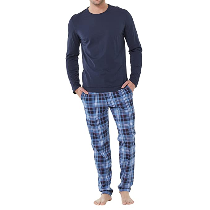Jockey Modal Pijama doble Pack en azul marino s (4) hasta 6 x l (