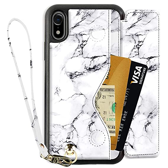 hot sales a2970 d1524 iPhone XR Wallet Case with Wrist Strap, ZVEdeng iPhone XR Card Holder Case,  PU Leather iPhone XR Printed Case, Shockproof iPhone XR Flip Cover Case, ...