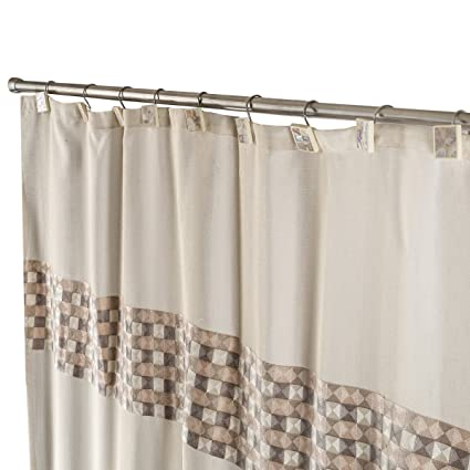Milano Decorative Fabric Shower Curtain Includes PEVA Liner Mildew Resistant 72