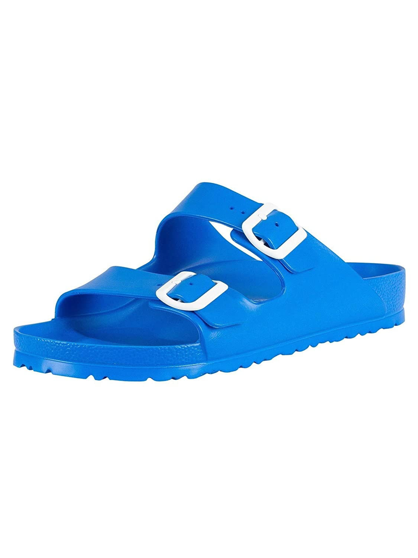 eb0ecb03e2170 Birkenstock Essentials Unisex Arizona EVA Sandals Scuba Blue 41 R EU (US  Men's 8-8.5)