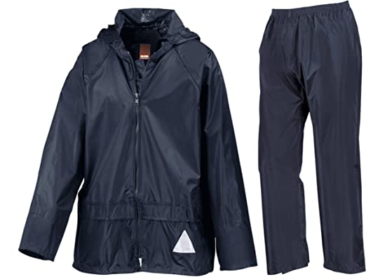 2787bb88a32 Wetplay PlayPac Kids Childs Boys Girls Waterproof Jacket   Trousers Suit  3-12 Years  Amazon.co.uk  Clothing