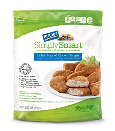 Perdue Simply Smart Lightly Breaded Chicken Nuggets 125 Lb Frozen
