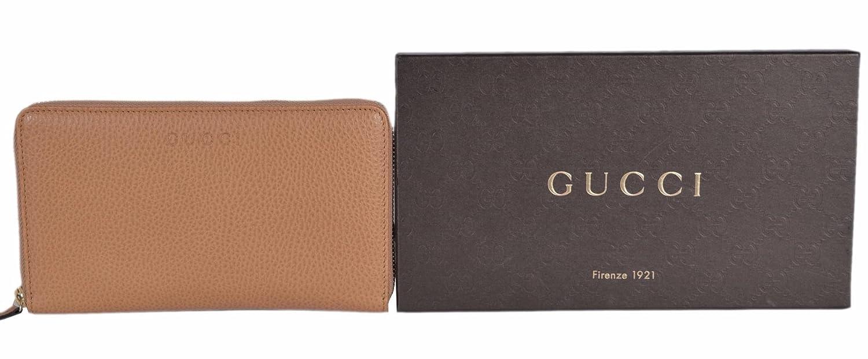 2f03c5b4b38 Amazon.com  Gucci Women s XL Textured Leather Zip Around Travel Clutch  Wallet (Whisky Beige)  Shoes