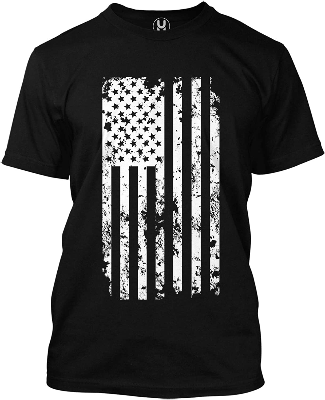 Details about  /American Warrior Tee Mens White Cotton Tshirt American Flag Shirt