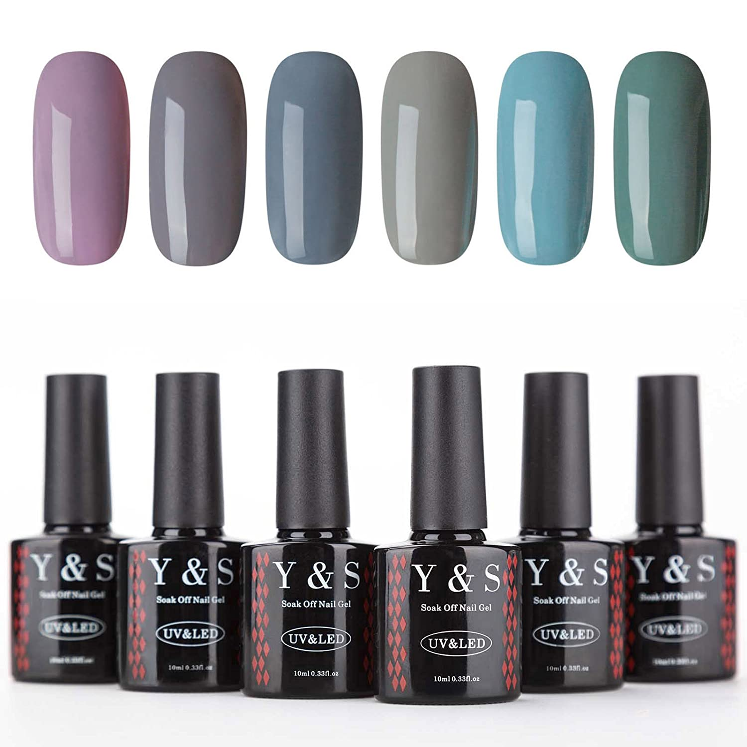Y& S UV LED Gel Nail Polish 6 Colours Soak Off Gel Polish Starter Kit #005, 10ml Ltd