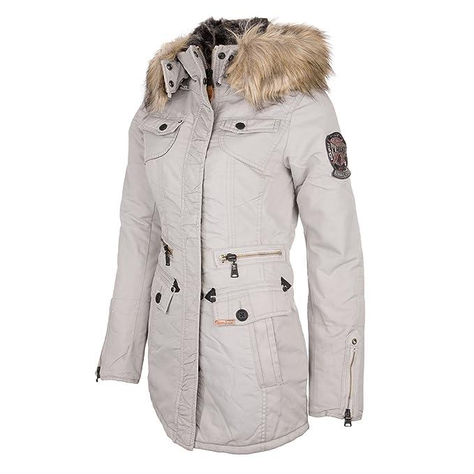 Khujo abrigo mujer chaqueta Megg 1662jk153 Ice ice Medium : Amazon.es: Ropa y accesorios