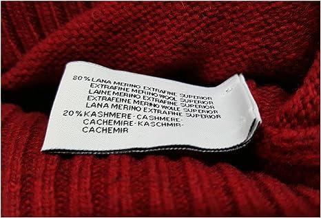 DELLA CIANA maglia lana//cashmere uomo rosso scuro interno collo grigio MADE ITA