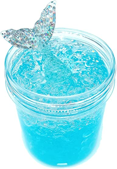 DIGOOD Non-Sticky Floam Slime Stress Relief Toy Kids Scented Putty Sludge Slime Mermaid Mud Toys