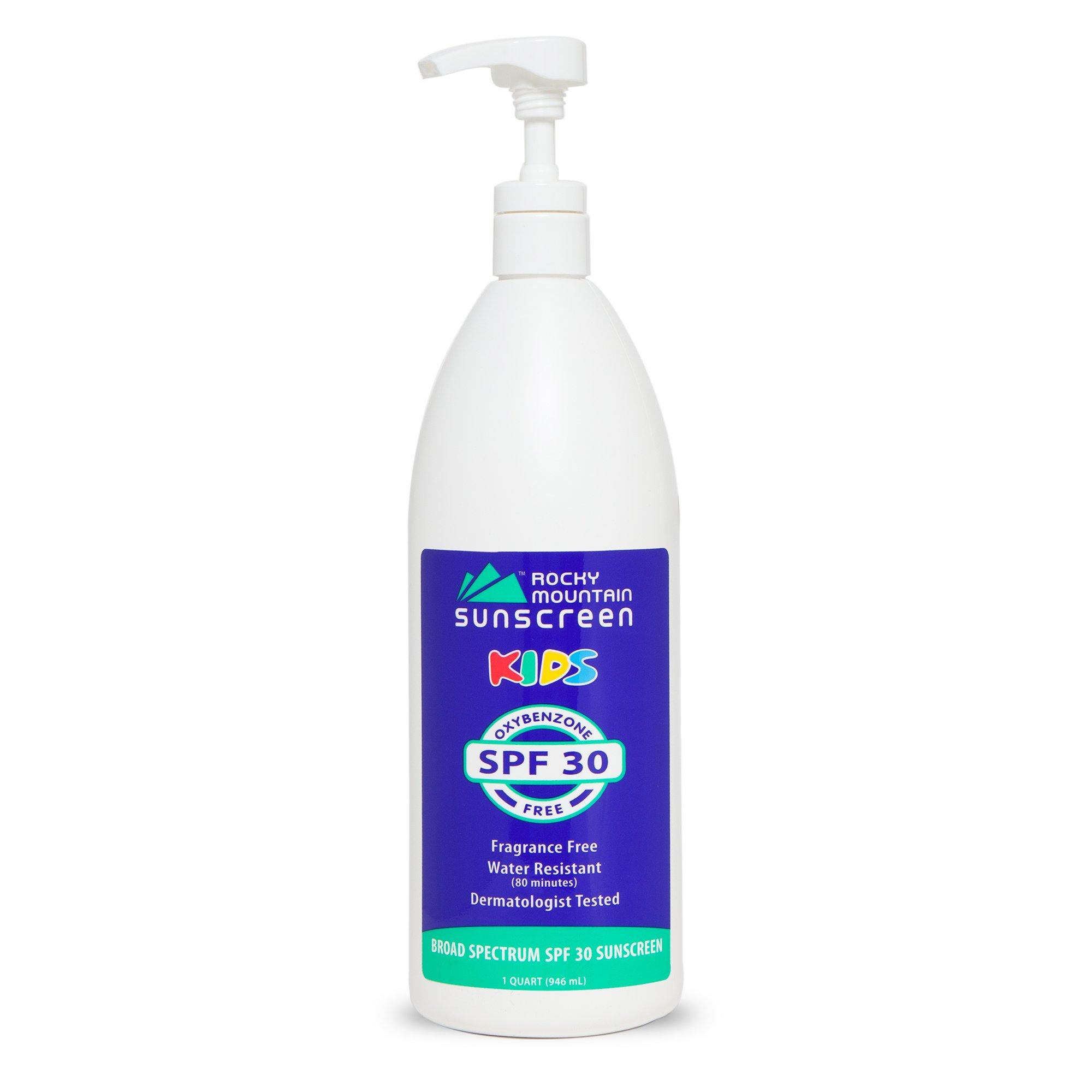 Rocky Mountain Sunscreen - Kids, Quart, SPF 30 - Oxybenzone Free