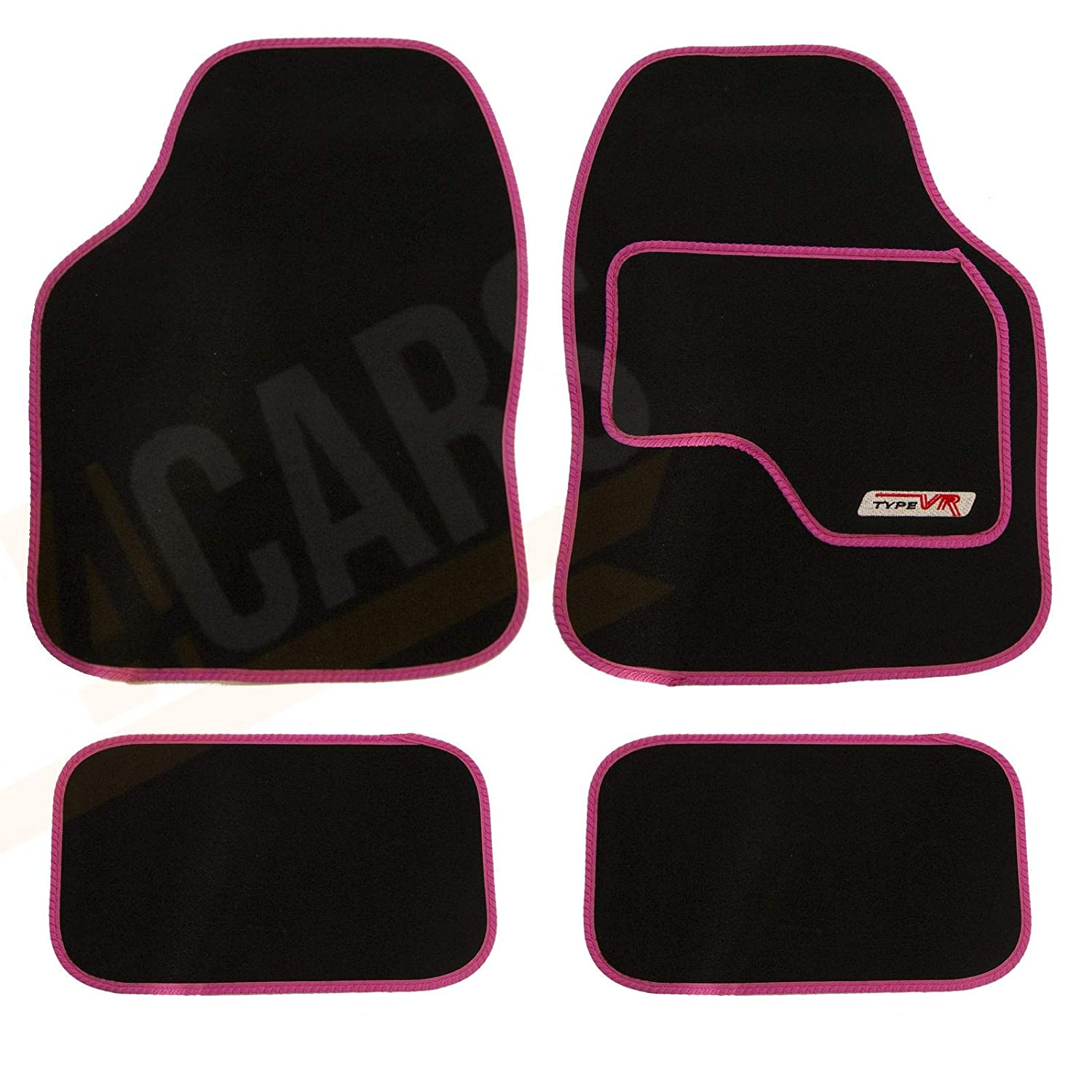 PEUGEOT 206 BLACK /& RED TRIM CAR FLOOR MATS