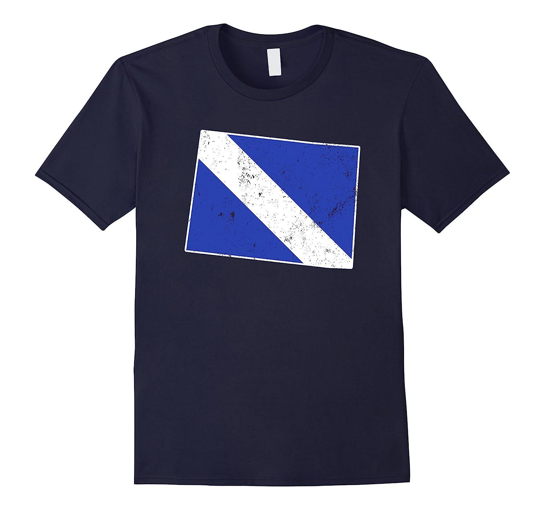 Colorado EMT Paramedic Thin White Line Flag Shirt-TD
