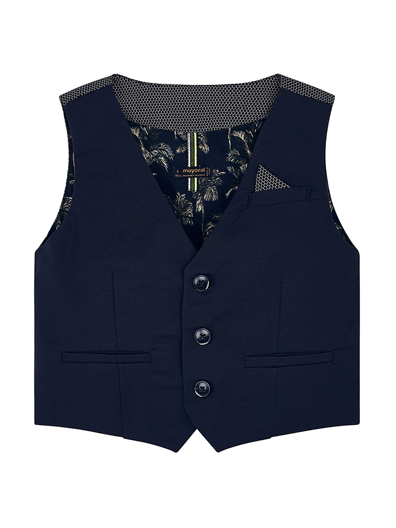 Mayoral 29-03310-091 - Tailored Linen Vest for Boys 7 Years Overseas