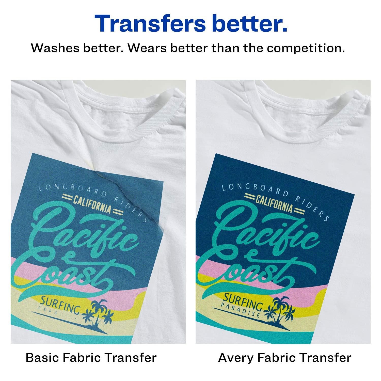32186959 Amazon.com : Avery T-Shirt Transfers for Inkjet Printers, For Light Fabric,  8.5