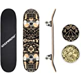 Osprey Professional Skateboards for Beginners - 31 Inch Double Kick Concave Adult Skateboard with 7 Layer Canadian Maple Deck