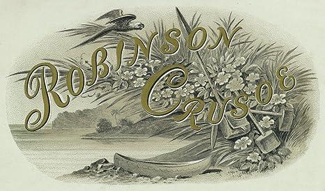 Robinson Crusoe - Etiqueta para caja de cigarrillos: Amazon.es ...