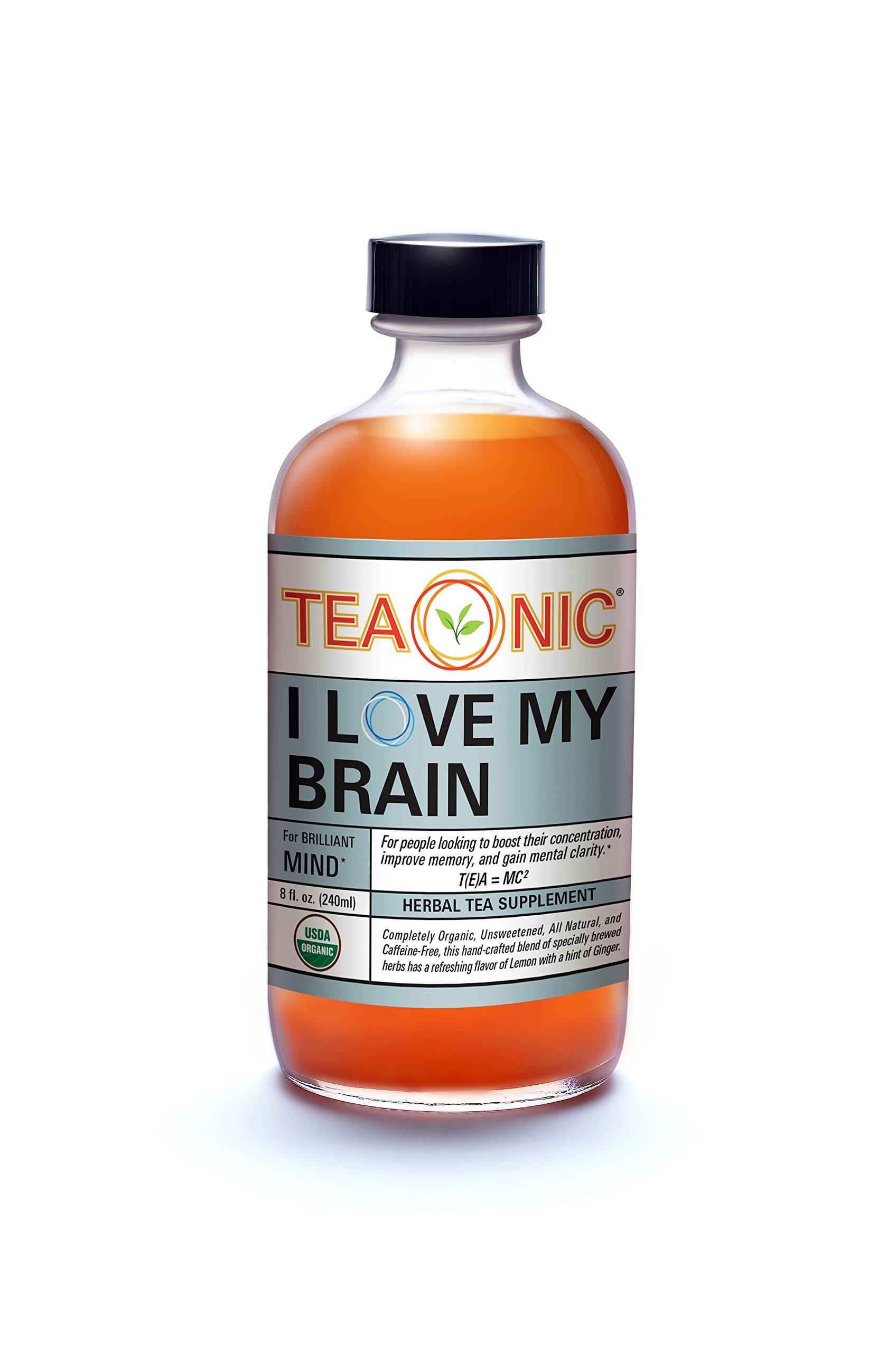 Teaonic Herbal Tea I LOVE MY BRAIN for Brilliant Mind | Lemongrass & Ginger (12 Pack)