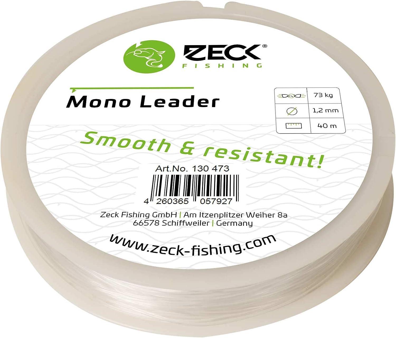 Vorfachschnur für Waller Vorfach Zeck Mono Leader 1,2mm 69kg 25m 0,32€//1m