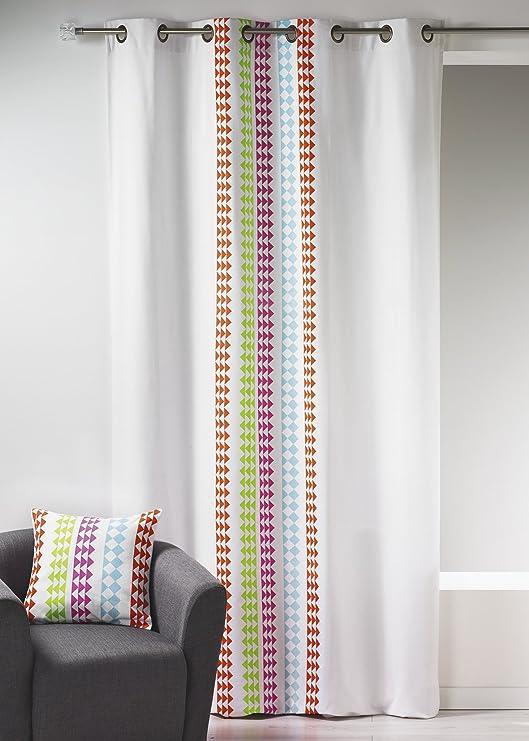 Home Maison HM6938298 impresión DE Lienzo diseño de Cortina de algodón 140 x 260 cm: Amazon.es: Hogar