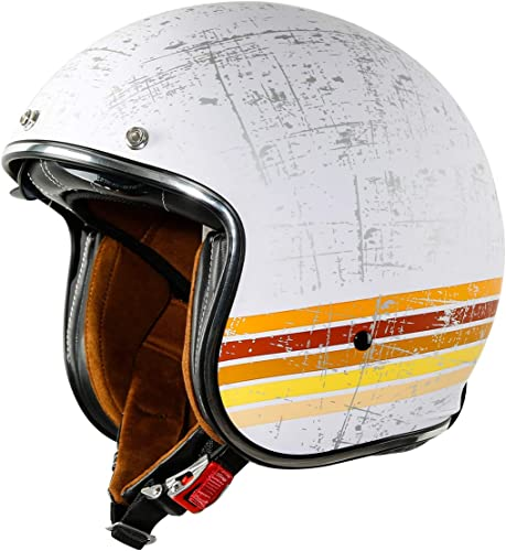 XFMT DOT Retro Style Motorcycle Open Face 3/4 Helmet
