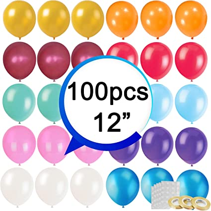 144 pieces 12 Inches latex Party Balloons in Assorted Colors