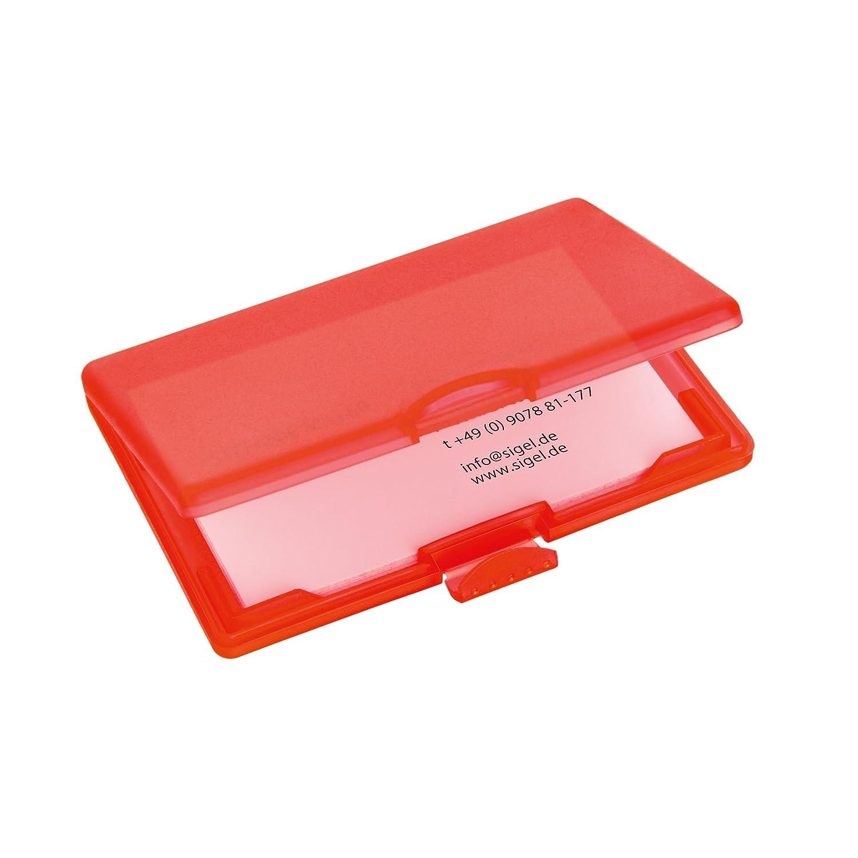 Sigel VZ331 Coolori Card Case, plastic, 10.1 x 7.1 cm, red