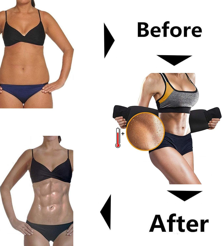 Ajustable Breathable Elastic Abdominal Binder for Men Women Fitness Training Weight Lost Shaper Gym Workout Muscle Toning Toner Belt Abdomen Waist Belt Slim Shaper Support Girdle Belt Black Unisex