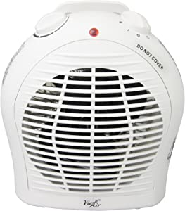 Vie Air Portable 3-Settings Ceramic Heater with Adjustable Thermostat, 1500W, White