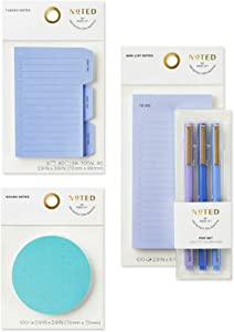 Noted by Post-it Brand Work from Home Set, Blue, Includes List, Tab, and Round Sticky Notes and Pens (NTD-LGSET-BLU)